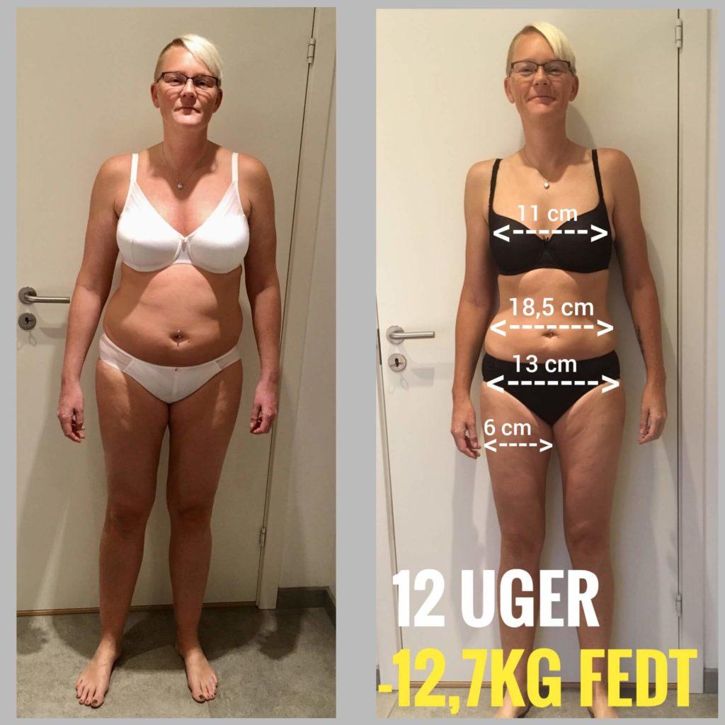 Lotte Hedeager Fitnesstransformation